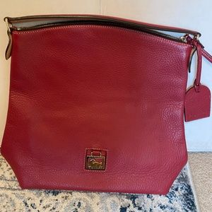 Dooney & Bourke Leather Large Red Sac